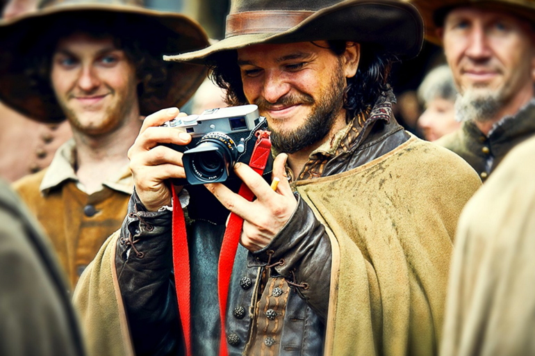 Harington en el set de Gunpowder (Imdb)