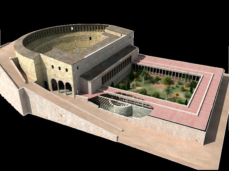 Restitución virtual del Teatro Romano (Museo del Teatro Romano)